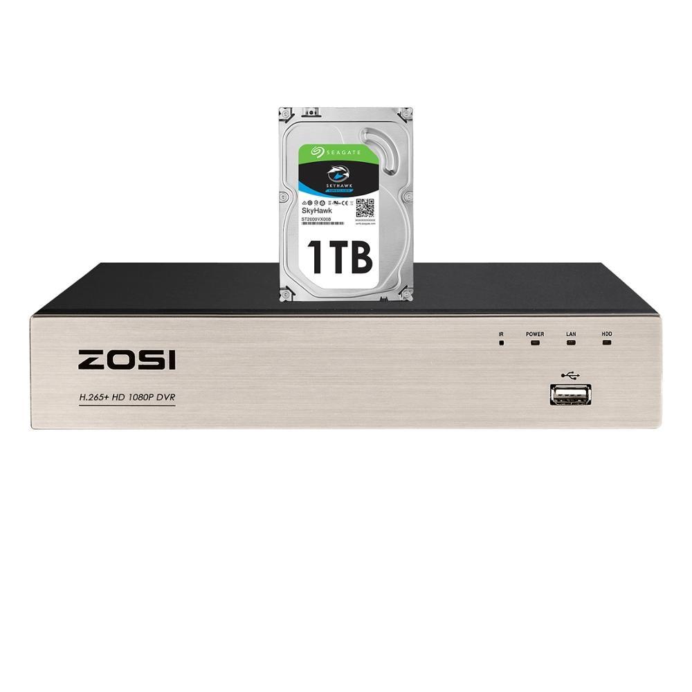 ZOSI 8 Channel TVI 4 IN 1 DVR H.265+ 1080p Security CCTV DVR 8CH Mini Hybrid HDMI DVR Support Analog/AHD/TVI/CVI Camera|tvi dvr|tvi cameratvi cctv - AliExpress