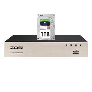 Image 1 - ZOSI 8 Channel TVI 4 IN 1 DVR H.265+  1080p Security CCTV DVR 8CH Mini Hybrid HDMI DVR Support Analog/AHD/TVI/CVI Camera