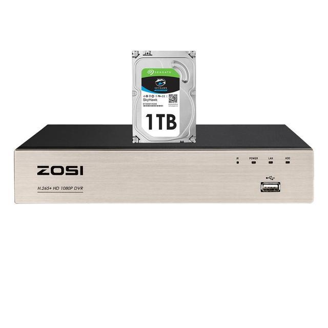 ZOSI 8 Channel TVI 4 IN 1 DVR H.265+  1080p Security CCTV DVR 8CH Mini Hybrid HDMI DVR Support Analog/AHD/TVI/CVI Camera