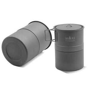 Image 5 - TOAKS MAXI titane Moka cuisinière cuisinière expresso cafetière ultralégère en plein air pratique Moka Pot