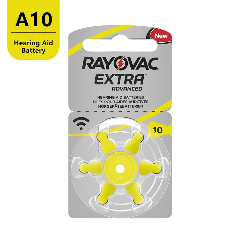 60 PCS RAYOVAC EXTRA Zinc Air Performance Hearing Aid Batteries A10 10A 10 PR70 Hearing Aid Battery A10 Free Shipping 5
