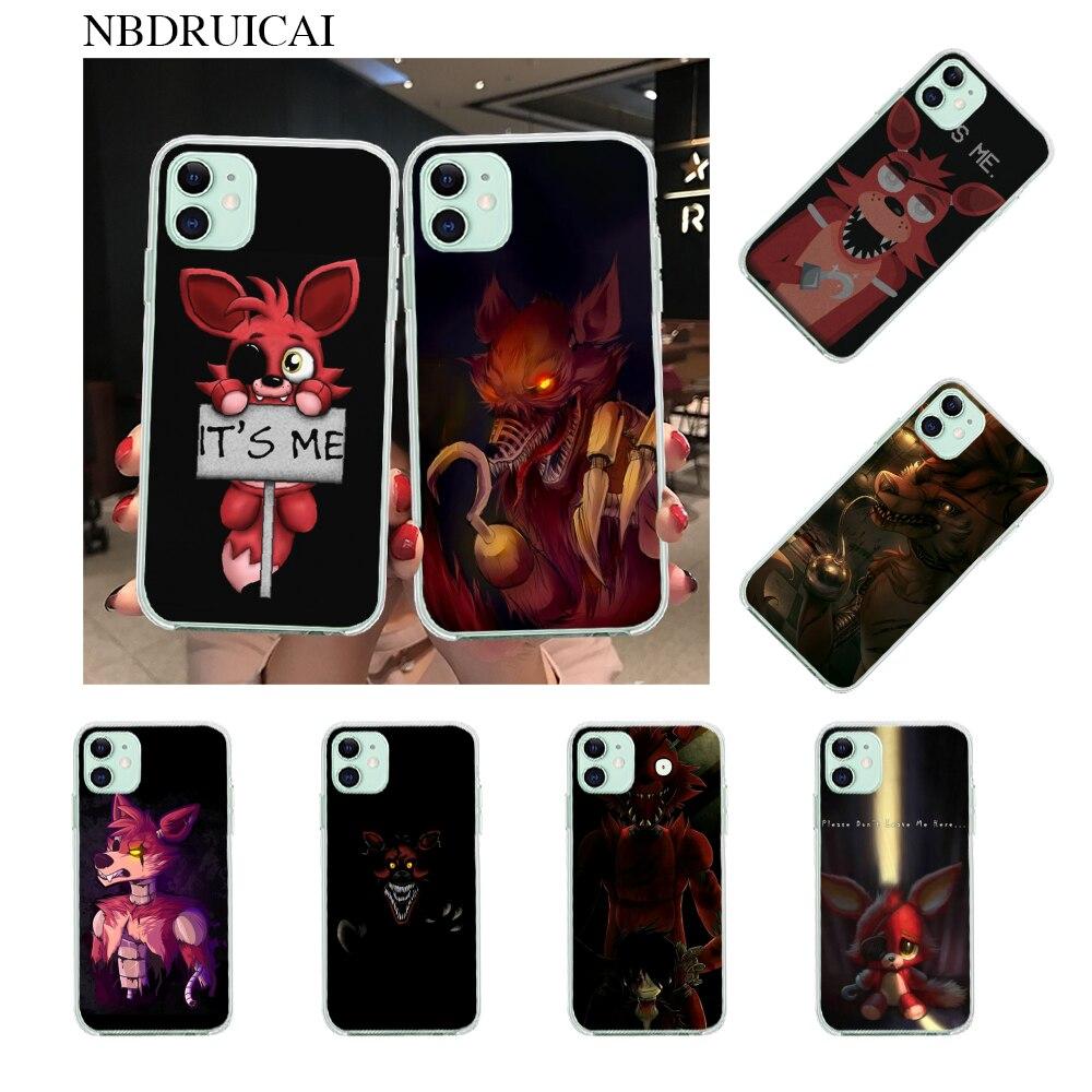 NBDRUICAI Fnaf Plush Foxy Custom Photo Soft Phone Case for iPhone ...