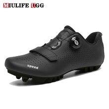 Zapatos de ciclismo de montaña para hombre y mujer, zapatillas planas de velocidad de bicicleta de carretera, para invierno, Spd, 2020