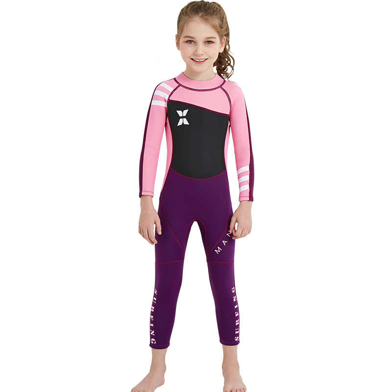 2.55 MM kombinezon do nurkowania dla dzieci moda kombinezon neoprenowy dla dziewczynek Kid Surf pływanie kombinezon dziecięcy dla dziewczynek łowiectwo podwodne strój kąpielowy