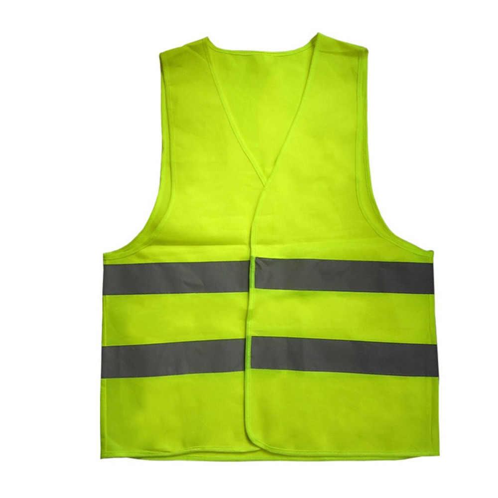 Yüksek Görünürlük Sarı Yelek Yansıtıcı Güvenlik Iş Giysisi Gece Koşu Bisiklet İçin Adam Gece Uyarı Çalışma Kıyafetleri Floresan