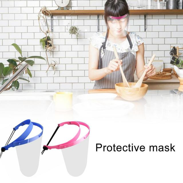 Face Shield Anti-fog HD Transparent Splashproof Full Face Mask Breathable Protective Film For Prevent Saliva Droplets