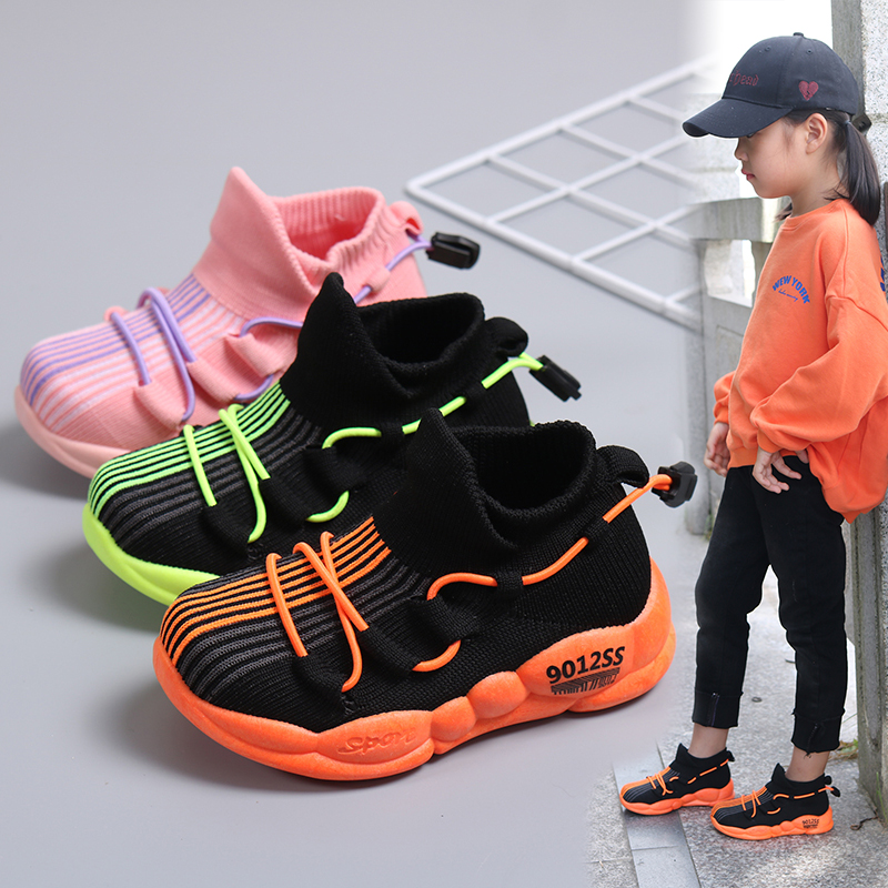 Fashion Children Infant Kids Baby Girls Boys Letter Mesh Sport Run Sneakers Casual Shoes Size 20 21 22 23 24
