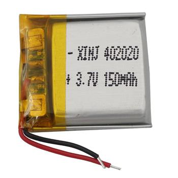 XINJ 3.7V 150 mAh li Lithium Polymer Battery Li po cell 402020 For smart watches mp4 bluetooth earphone speaker driving recorder image