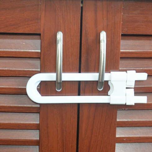 خزانة أطفال أقفال سلامة الطفل رسم قفل الأطفال حماية الأمن ل خزانة خزانة خزانة U شكل قفل قفل أمان للأطفال طفل