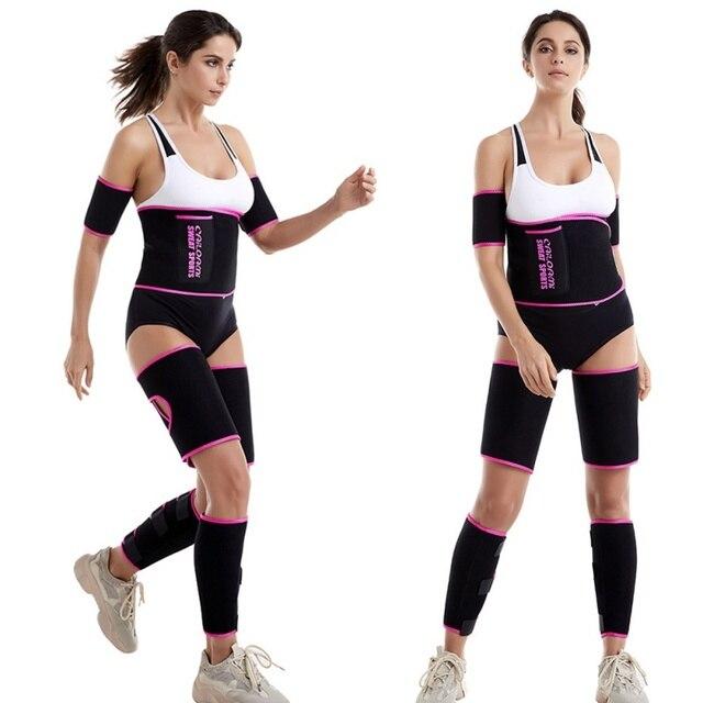 Balight Sweat Belt Waist Trimmer Belt Weight Loss Sweat Band Wrap Fat Tummy Stomach Sauna Legs Arms Trainer Weight Loss Wrap 4
