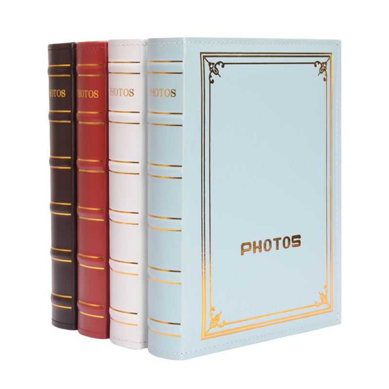 Vintage British Style Plastic Album Large Capacity Interstitial Leather Album Simple Home Decoration image