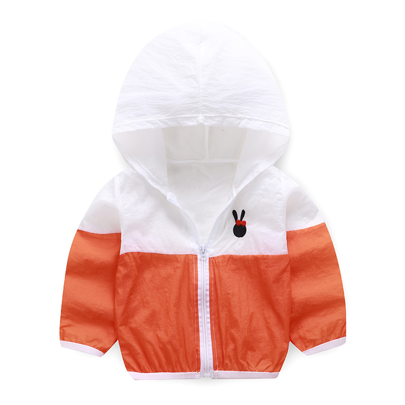 Summer Windbreaker for Boy Baby Jacket Kids UV Protection Clothes Hooded Children's Sun Clothing Girls Sea Beach Blouse Outwear-3