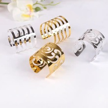6pcs Serviette Rings Alloy Napkin Holder West Dinner Towel Napkin Ring Wedding Party Decoration Table Decoration Accessories tai top 1 pc flower napkin rings gold silver crystal napkin holders napkin buckle for wedding dinner party table decoration