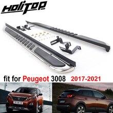 Auto Trittbrett Seite Schritt Bar Pedale für Peugeot 3008 2017 2020, hohe Qualität von ISO9001 große fabrik. Freies verschiffen nach Asien
