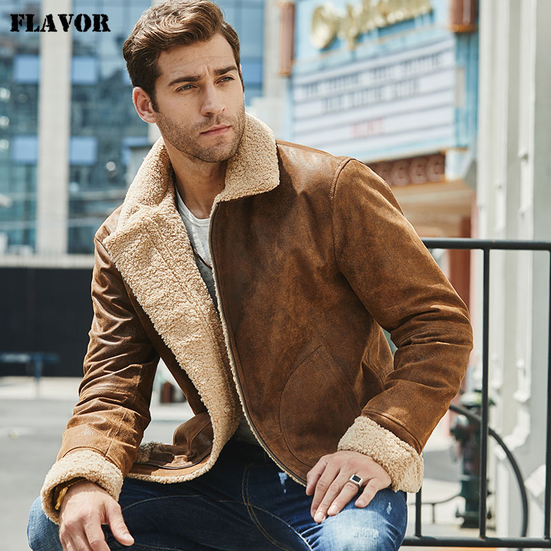 New Men s Real Leather Jacket Faux Fur Collar Genuine Leather Jacket New Men's Real Leather Jacket Faux Fur Collar Genuine Leather Jacket