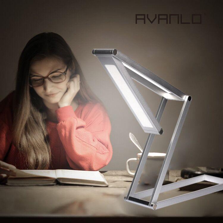 Touch Control Eye-proteção LED Noite Candeeiro de mesa Regulável Crianças Estudo Escritório Trabalho Laptop Mesa de Iluminação quarto sala de estudo