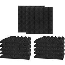 12 шт акустических пенопластовых панелей студийные клиновые