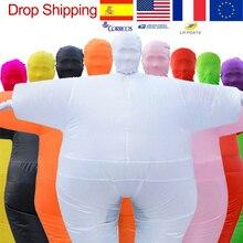 ผู้ใหญ่อะนิเมะคอสเพลย์ Chub Inflatable เป่าสี Full Body Paty เครื่องแต่งกาย Jumpsuit 9 สีฮาโลวีนชุดคอสเพลย์