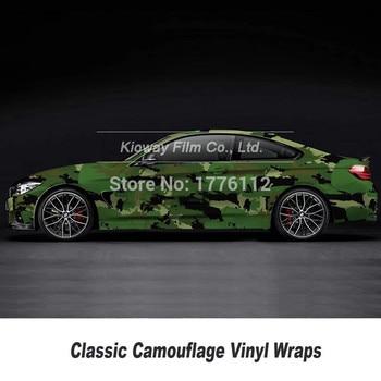 Military green Camouflage wraps film Bubble fee Vehicle Graphics Size: 1.52*5/10/15/20/25/30 M Cam Vinyl Car wrap film