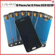 10 sztuk/partia AMOLED LCD do Samsunga Galaxy J5 Prime J5P G570 G570F G570L wyświetlacz LCD ekran dotykowy Digitizer zgromadzenia przez hurtownie