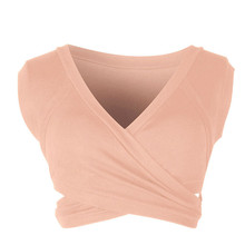 V Neck Summer crop top Short Women's Tees T Shirt 2019 New