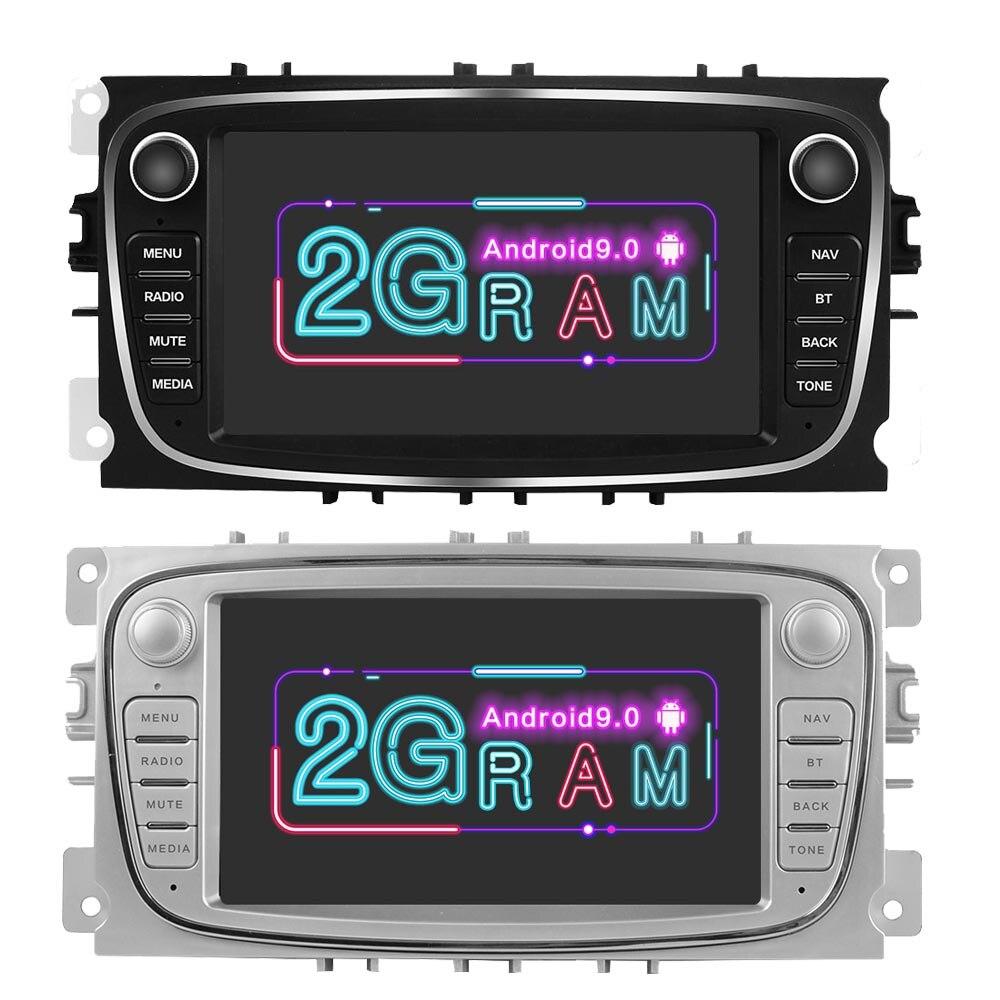 Android 9.0 Car Multimedia Player Autoradi 2 Din 7'' Car Radio GPS Navigation For Ford Focus 2 S Max Mondeo Galaxy C-Max 2G RAM(China)
