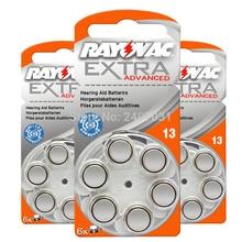 보청기 배터리 60 PCS / 1 box RAYOVAC EXTRA A13/PR48/S13 아연 공기 배터리 1.45V 크기 13 직경 7.9mm 두께 5.4mm