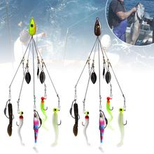 1Set Fishing Hook Combination Multi-function Outdoor Camping Fish Lure Equipment Fishing Tackle Combination Length 21cm multi function automatic fishing gear lazy alarm fishing tackle hook double hook automatic fishing launcher