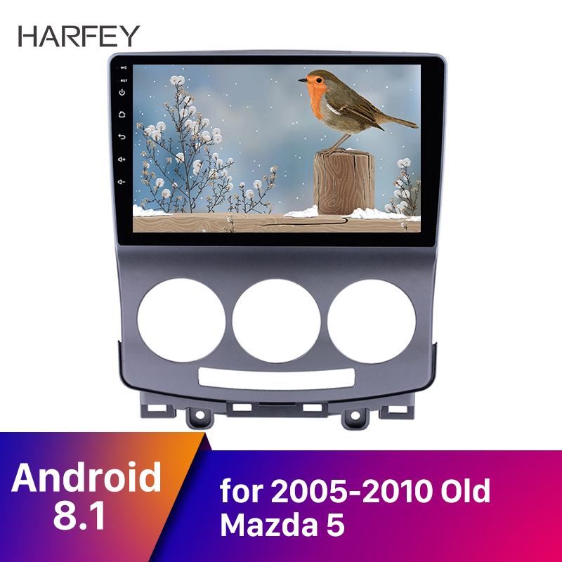 Harfey <font><b>2Din</b></font> Android 8.1 Head Unit GPS Auto Radio for 2005-2010 Old <font><b>Mazda</b></font> <font><b>5</b></font> 9'' Car Multimedia Player with Bluetooth DAB+ Camera image