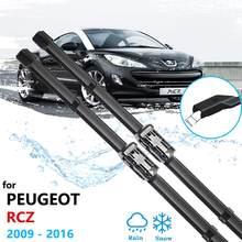 Автомобильная щетка стеклоочистителя для Peugeot RCZ 2009 ~ 2016, стеклоочистители переднего ветрового стекла, автомобильные аксессуары 2010 2011 2012 2013 ...