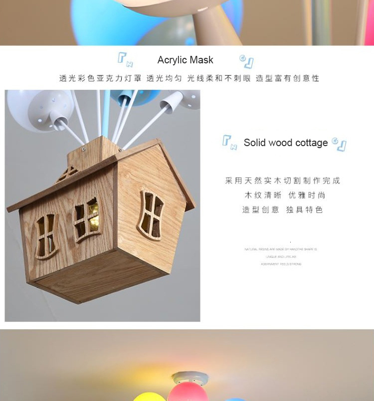 H87827458df034a9cab6a2f57913562afY Ceiling light Childrens room living room restaurant dining room decorative lights for home kids simple Modern led ceiling lamp