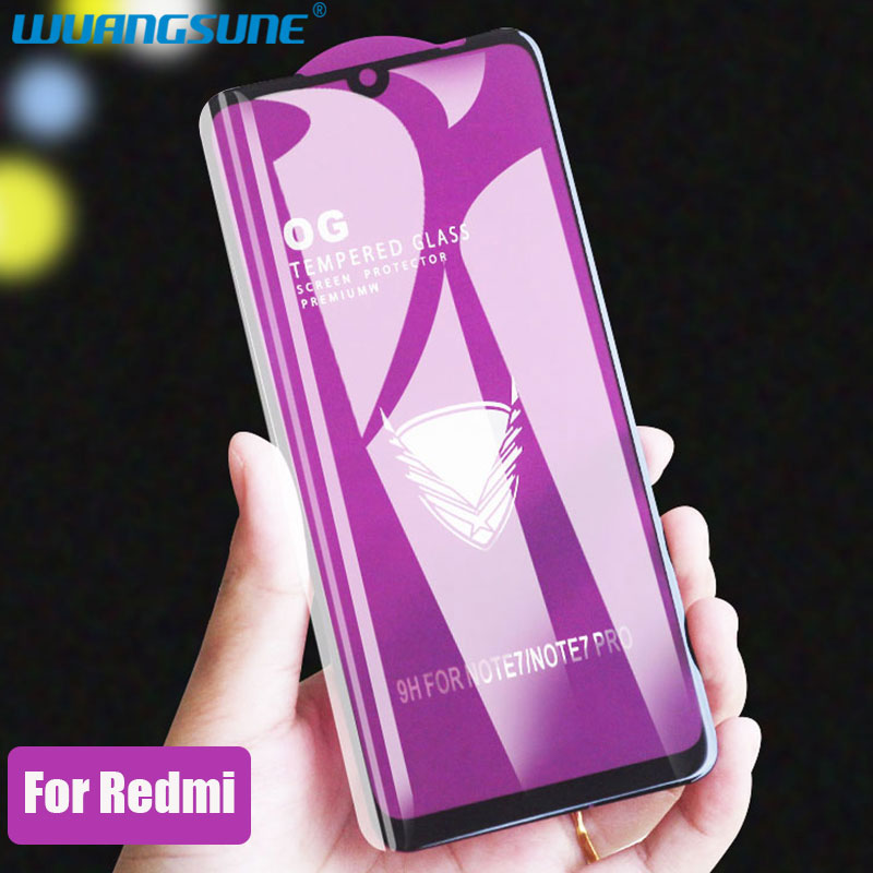 Golden Armor Screen Protector Tempered Glass For Xiaomi Redmi 7 Note 5 7 6Pro 5A 6A 7A Go 5plus Full Coverage Front Film