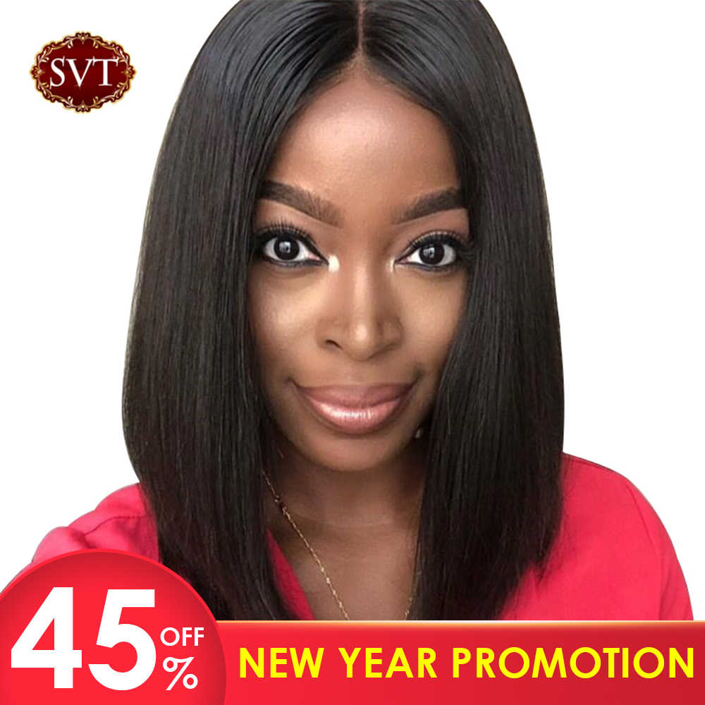 13X4 Remy Short Human Hair Wigs Bob Lace Front Wigs  For Black Women SVT Hair Brazilian Straight Lace Front Wig