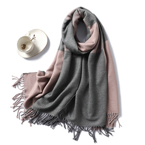 Image 2 - Casual Cashmere Scarf Women Winter Neck Warm Scarves Thick Shawls Wraps for Lady Solid Palid Pashmina Echarpe Femme 2020 New