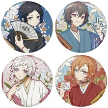 Anime Bungou Stray Dogs Badges On A Backpack Anime Icons Pins Badge Decoration Brooches Metal Badges For Clothes Bag DIY Gifts