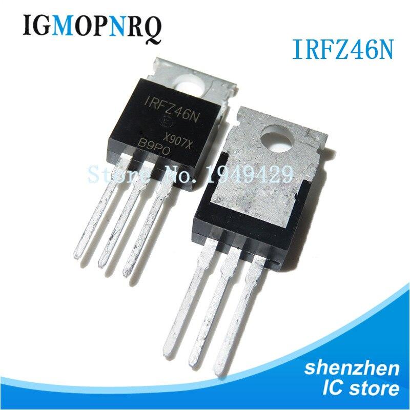 10PCS IRFZ46N TO-200 IRFZ46 TO220 53A 55V New Original
