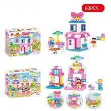 Education Toys Bricks Building-Blocks Duplo Girls City-Friend Children DIY Pc for 60pcs