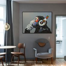 Anilmal абстрактная живопись настенное искусство картина наушники
