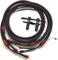 Audiophile Redwood Speaker Cable Silver Spade Plug with 72V DBS single or bi wire version