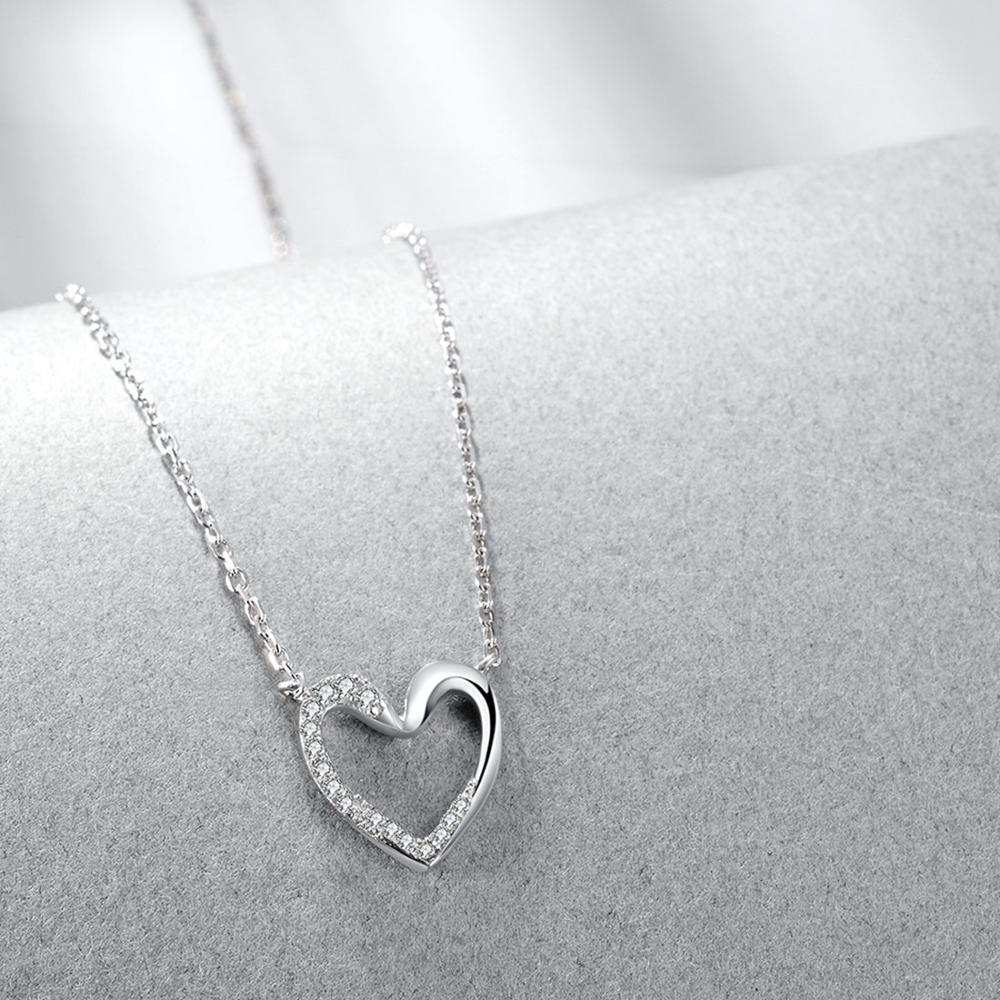 E Jewellry 925 Sterling Silver Sweet Love Jewelry Set Heart Swan CubicZirconia Stud Earrings Necklaces for Women Gift 2019 in Jewelry Sets from Jewelry Accessories