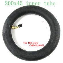 """200x45 E twow S2 스쿠터 공압 휠 용 내부 튜브 8 """"스쿠터 휠체어 에어 휠 내부 타이어 8x1 1/4 튜브"""