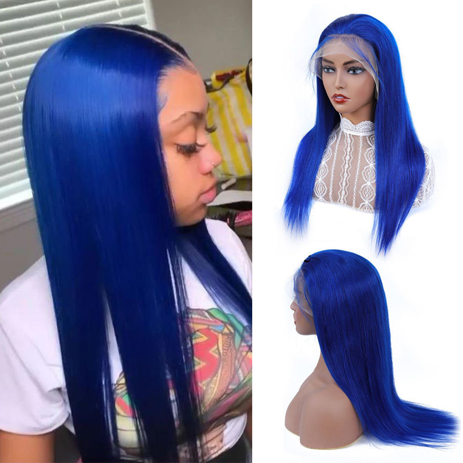 Long 613 Blonde Wig 13x4 Colored Human Hair Wigs 150% Density Remy Hair Wig Brazilian Straight Pink/Blue Lace Front Wig 18-22