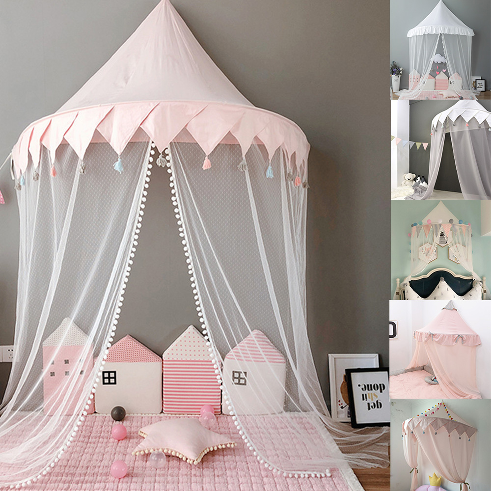 Baby Bed Canopy Tent Kids Play Tent Princess Play House Tipi Enfant Baby Bedding Dome Canopy Decoration Children Gift Play Tent