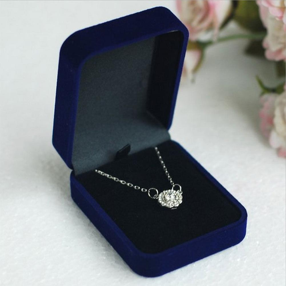 Velvet Necklace Jewelry Container Gift Display Box Ring Bracelet Storage Case Flannel Jewelry Ring Necklace Bracelet Jewelry Box