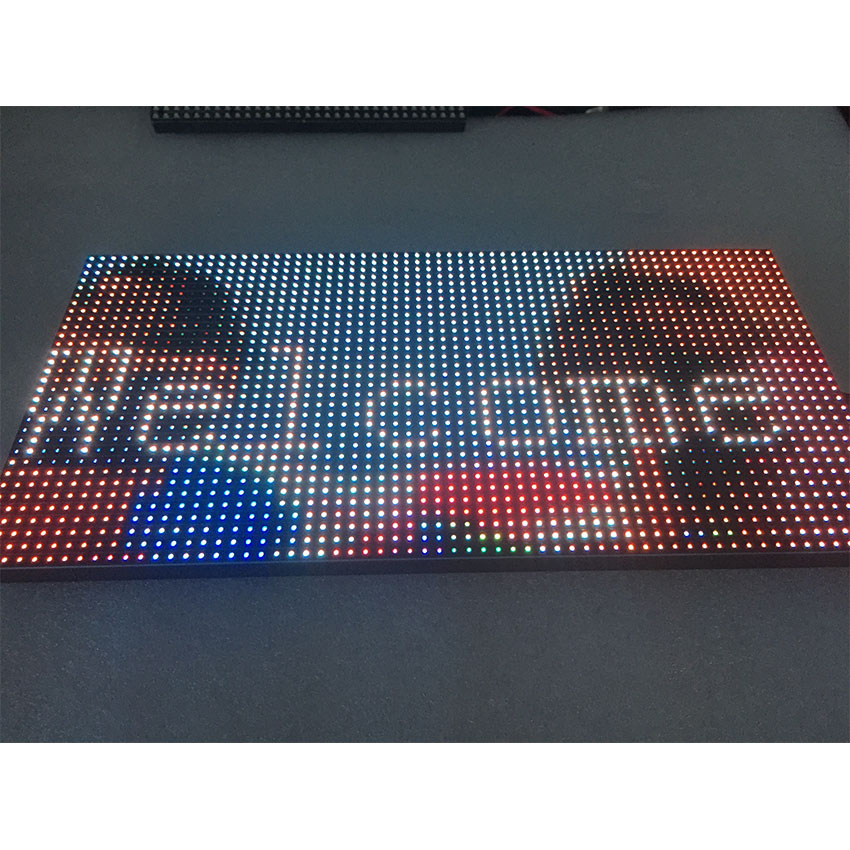 Full color SMD3528 P10 8S indoor 3in1 LED module 4S RGB programable seamless splice module vedio player display screen panel