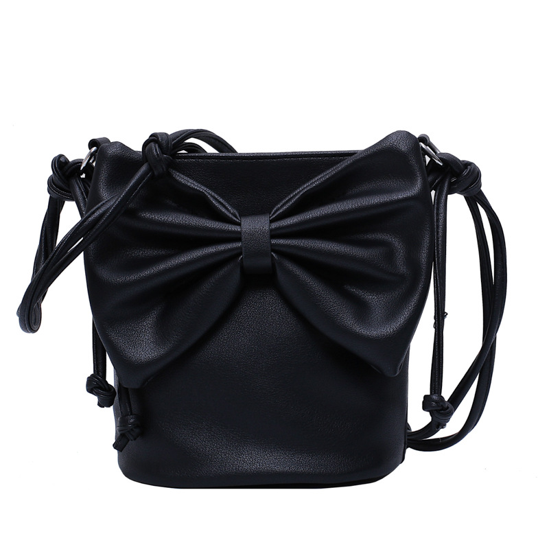 US $13.3 65% OFF|bow mini bucket bag luxury designer crossbody bags for women knotted shoulder strap famous brand blue brown black red bag women on