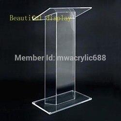 Meble ambona darmowa wysyłka wysoka solidność nowoczesny Design tanie przezroczysty akrylowy podium akrylowe podium