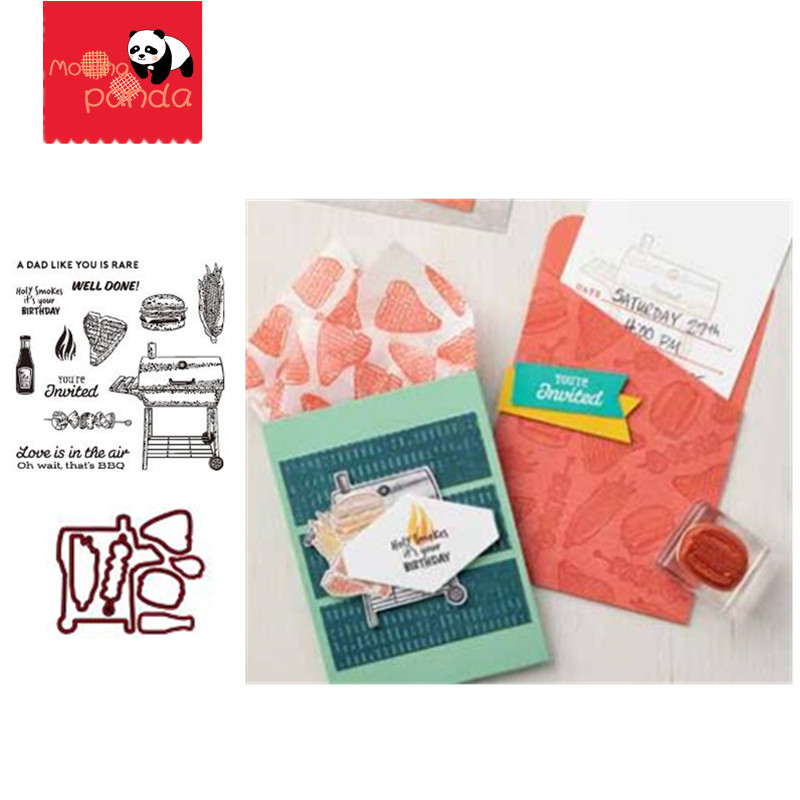 MP087 BARBECUE Metal Cutting Dies And Stamps For Scrapbooking New Dies For Die Cut Stitch Craft Die Stencil Troqueles
