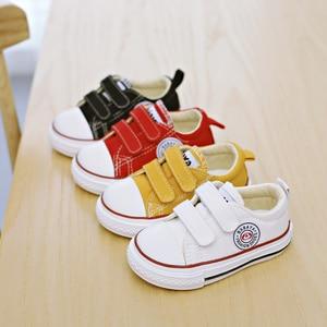 Image 5 - ילדי בד נעלי תינוק נעליים רך תחתון 1 3 שנים 2019 אביב חדש לבן נעלי החל בני בד פעוט נעלי בנות