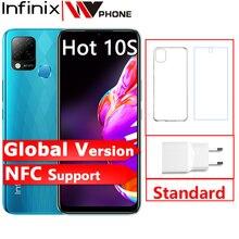 "Infinix Hot 10S NFC 4GB 64GB Smartphone 6.82"" Display Helio G85 48MP AI Triple Camera Mobile Phone 5000mAh Battery"